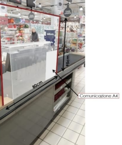 Construction of Plexiglass protection barriers for Supermarkets