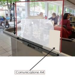 Barriere Plexiglass protezione virus per supermercati